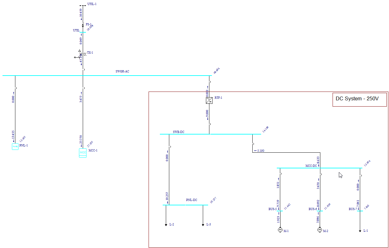 Example 1 Sample Dc System Shortcircuit Calculation Figure 8 Short Circuit Results For Buses